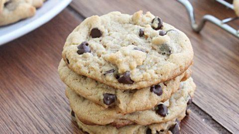Peanut Butter Chocolate Chip Cookies #chocolatechip #cookies #peanutbutter #chocolatechipcookies #dessert #tableforsevenblog