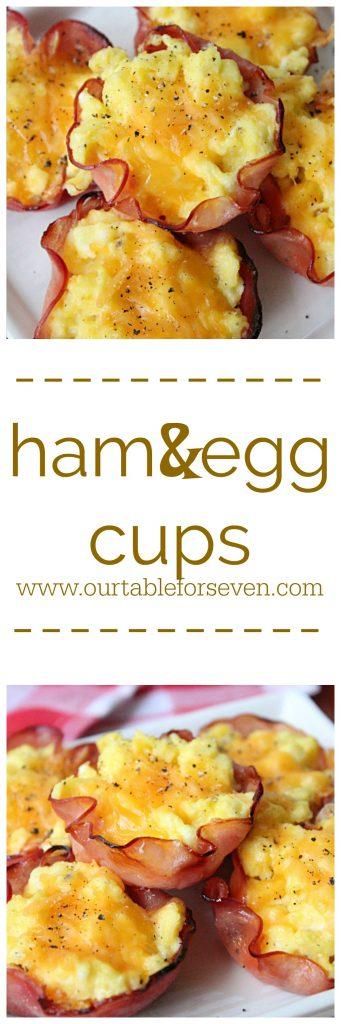 Ham and Egg Cups @tableforseven #tableoforsevenblog #ham #eggs #cheese #breakfast