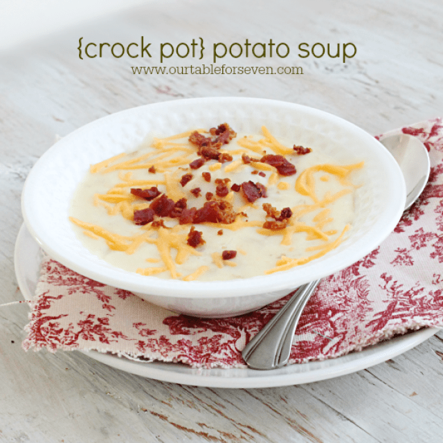 Crock Pot Potato Soup from Table for Seven