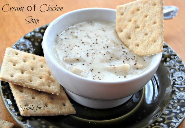 Cream of Chicken Soup #chickensoup #creamofchickensoup #tableforsevenblog #soup