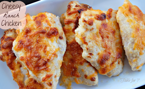Cheesy Ranch Chicken from Table for Seven