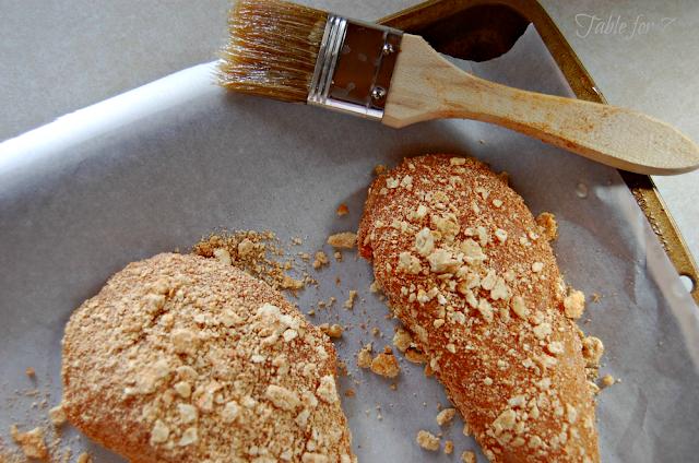 Honey Crusted Chicken #chicken #honey #hearthealthy #dinner #tableforsevenblog