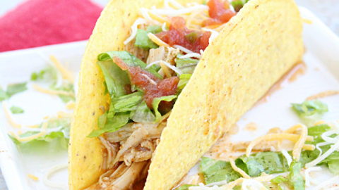 Crock Pot Cool Ranch Tacos from Table for Seven