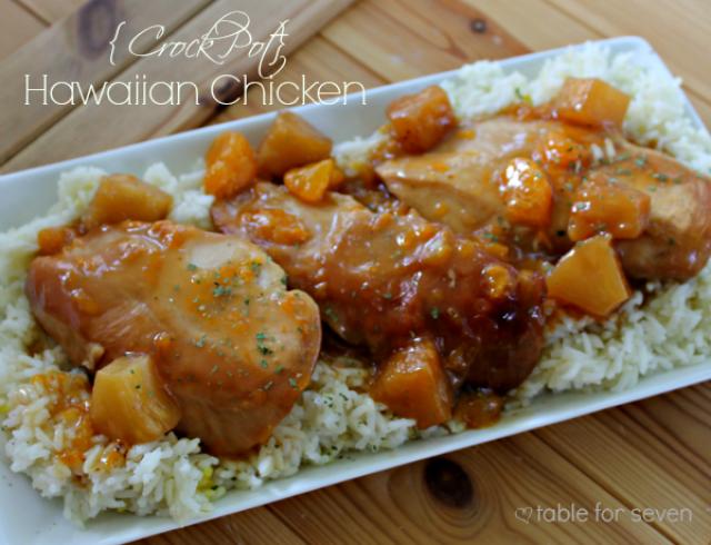 Crock Pot Hawaiian Chicken from Table for Seven