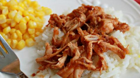 Crock Pot Cranberry Chicken #crockpot #slowcooker #chicken #cranberry #dinner #tableforsevenblog