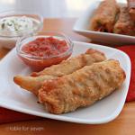 Chicken Taco Egg Rolls #chicken #groundchicken #tacos #eggrolls #tableforsevenblog