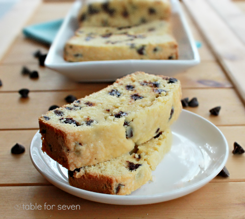 Chocolate Chip Pound Cake from Table for Seven