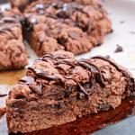 Triple Chocolate Scones #chocolate #scones #breakfast #brunch #chocolatechips #tableforsevenblog @tableforseven