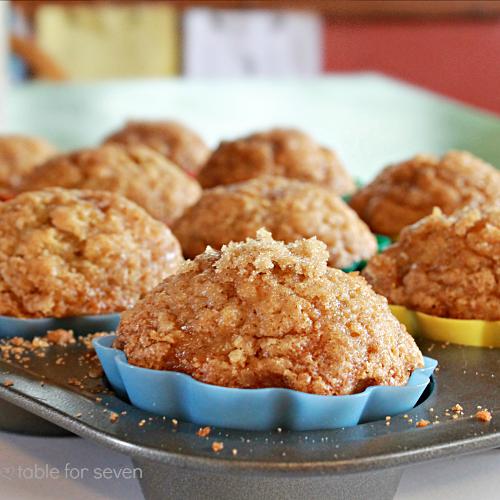 Banana Cinnamon Muffins #tableforsevenblog #muffins #banana #cinnamon