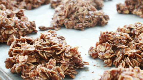 No Bake Peanut Butter Chocolate Oatmeal Cookies