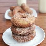 Cinnamon Sugar Eggnog Doughnuts #doughnuts #donuts #eggnog #cinnamonsugar #tableforsevenblog