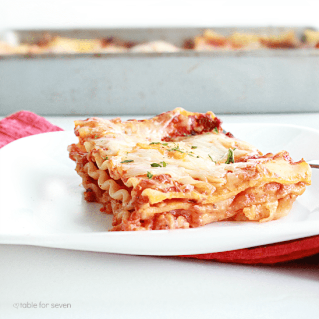 Three Cheese Lasagna: No Ricotta Cheese from Table for Seven