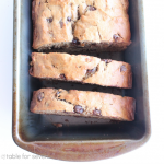 Peanut Butter Chocolate Chip Banana Bread #peanutbutter #banana #chocolatechip #bananabread #tableforsevenblog