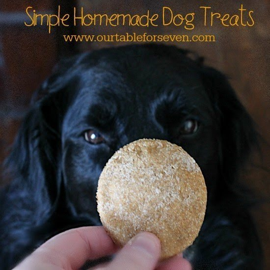 Simple Homemade Dog Treats #dogtreats #homemade #dog #tableforsevenblog