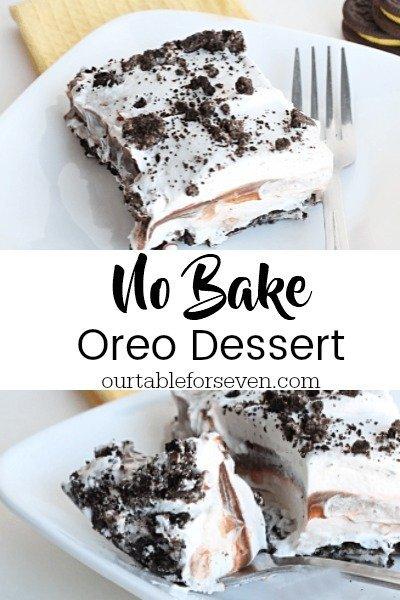 No Bake Oreo Dessert from Table for Seven