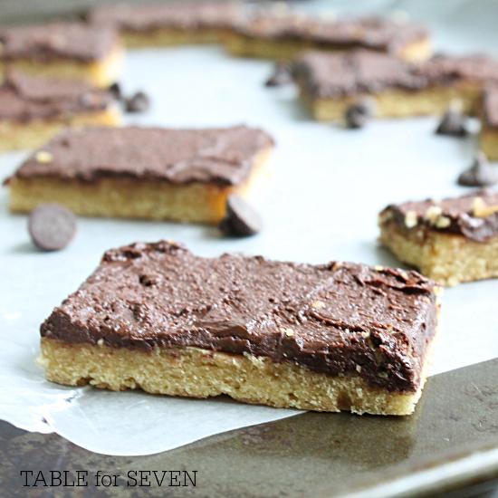 Spread Cookie Bars #cookiebars #cookies #bars #frosting #dessert #tableforsevenblog