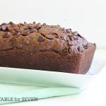 Double Chocolate Zucchini Bread- Table for Seven