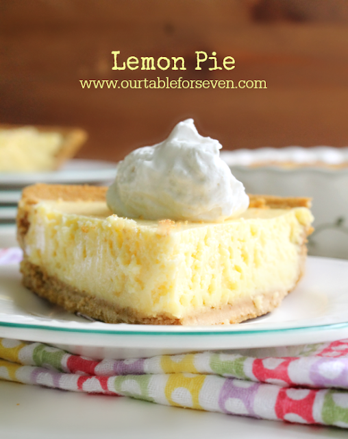 Lemon Pie from Table for Seven #pie #lemon #dessert