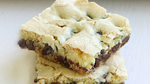 Lazy Cake Mix Cookie Bars from Table for Seven