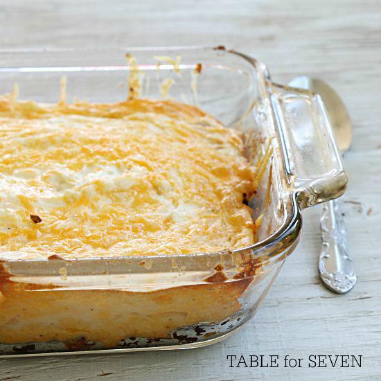 Taco Mashed Potatoes #mashedpotatoes #taco #tableforsevenblog #sidedish