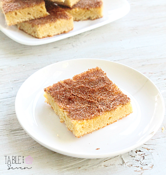 Snickerdoodle Bars with Cinnamon Ice Cream - Table for Seven