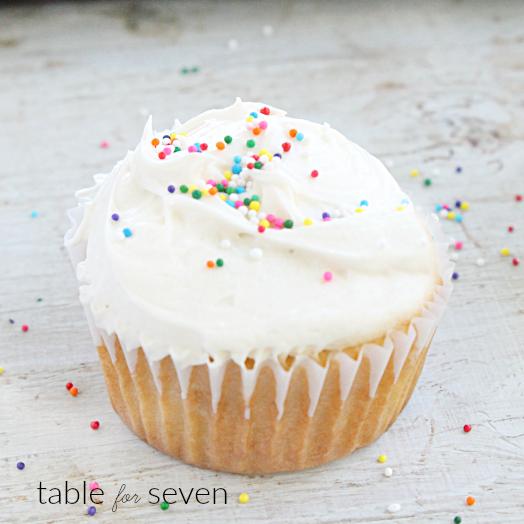 Olive Oil Cupcakes #oliveoil #cupcakes #vanilla #vanillacupcakes #dessert #tableforsevenblog