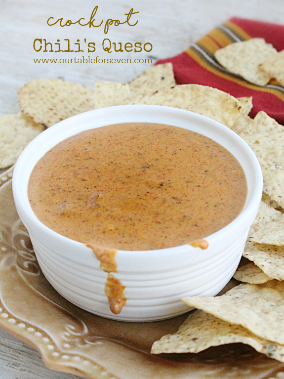 Crock Pot Chili S Queso Table For Seven Food For You The Family