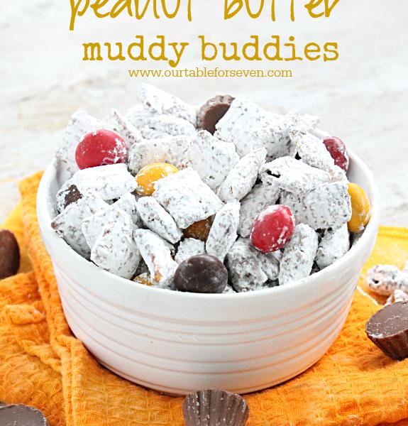 Peanut Butter Muddy Buddies #peanutbutter #muddybuddies #dessert