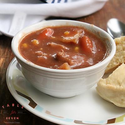 Crock Pot Beef Stew #tableforsevenblog #crockpot #slowcooker #stew #beefstew #recipe