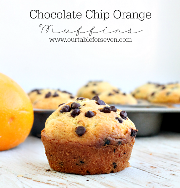 Chocolate Chip Orange Muffins from Table for Seven