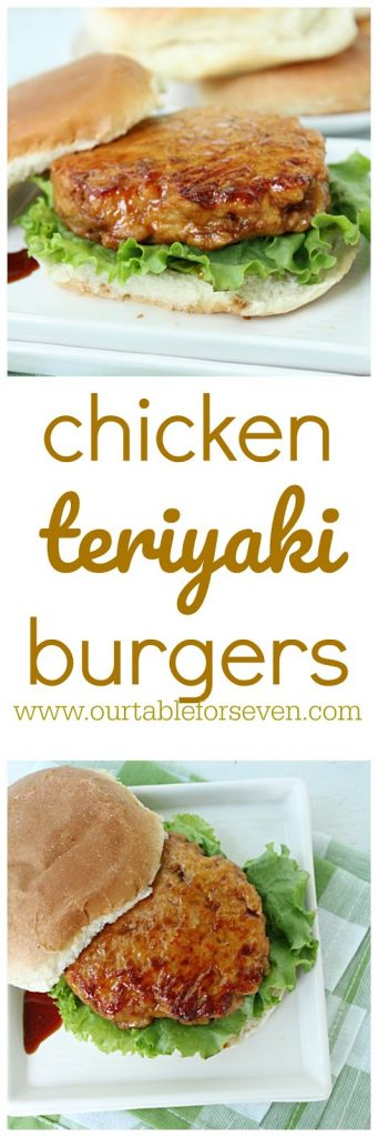 Chicken Teriyaki Burgers with Homemade Teriyaki Sauce #teriyakisauce #chickenburgers #chicken #sliders #dinner #tableforsevenblog