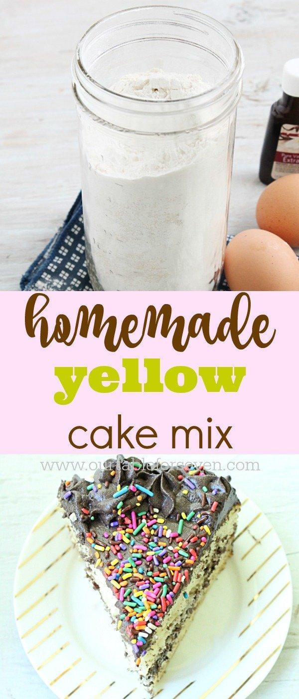 Homemade Yellow Cake Mix #cakemix #yellowcakemix #homemade #tableforsevenblog