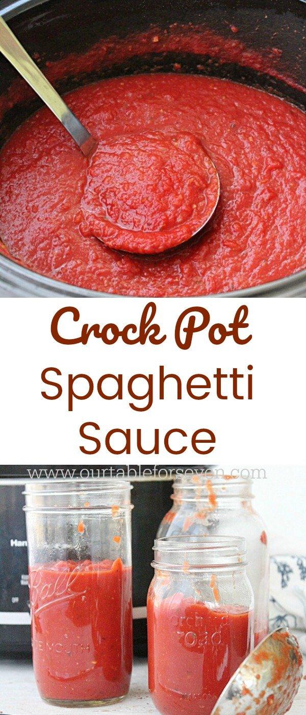 Crock Pot Spaghetti Sauce #crockpot #slowcooker #redsauce #spaghettisauce