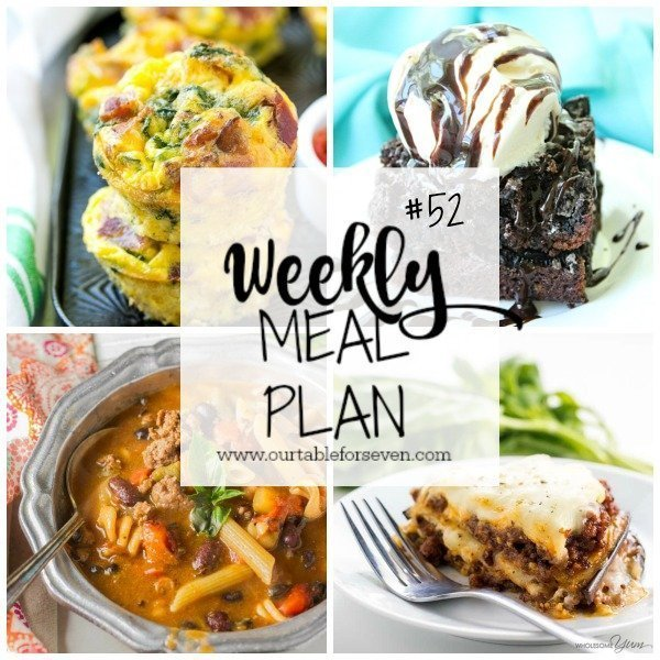 Weekly meal plan 52 table for seven table for seven for Table 52 brunch menu