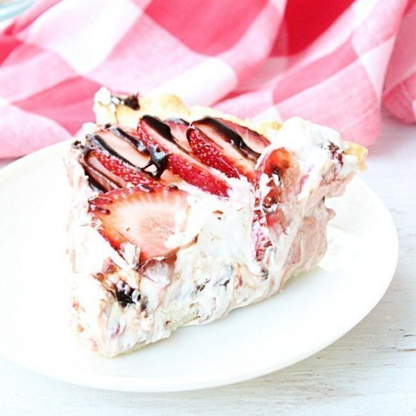 Strawberry Cream Pie from Table for Seven