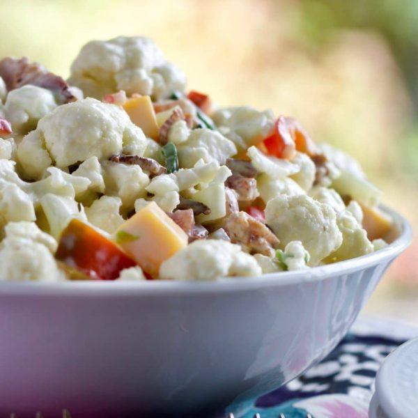 Cauliflower Pepper Salad from @dianewllms #cauliflower #salad #pepper #recipe #partyfood