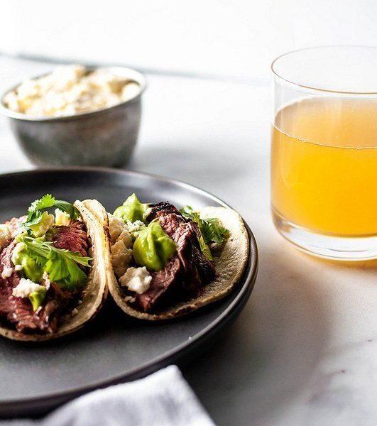 Beer Marinated Steak Tacos @mpaynehensley #beer #tacos #steak #dinner