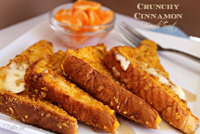 Crunchy Cinnamon French Toast #frenchtoast #cinnamon #breakfast #crunchy #tableforsevenblog @tableforseven