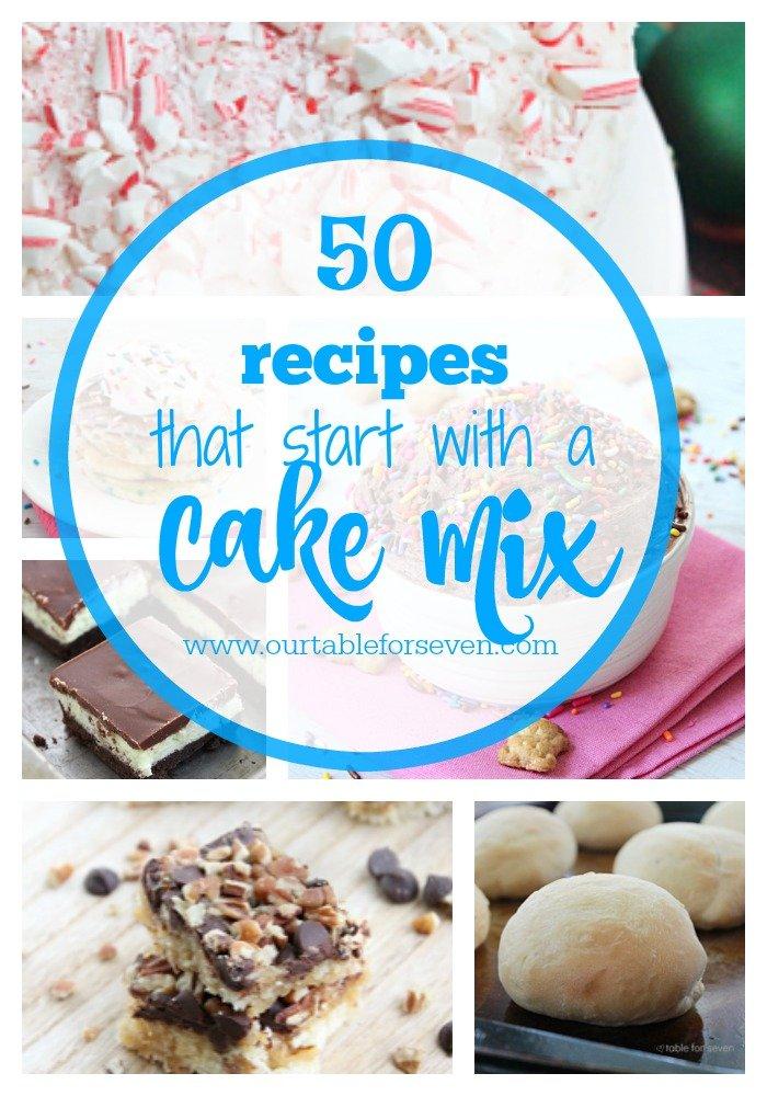 50 + Recipes that Start with a Cake Mix #cakemix #recipes #dessert #reciperoundup