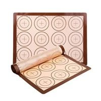 YORLFE Silicone Baking Mat Set, 2 Pack Non-Stick Silicon Liner