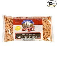 Hodgson Mill Whole Wheat Wide Egg Noodles, 12-Ounce Packages (Pack of 12), Whole Grain Pasta, Wholesome and Delicious with Tomato Sauce, Health Conscious Substitute for Refined White Pasta