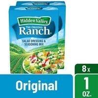 Hidden Valley Original Ranch Dips Mix, Gluten Free - 8 Packets