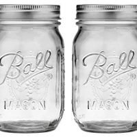 Ball Pint Regular Mouth Mason Jar with Lids and Bands, 16-Ounces (2-Units)