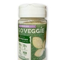 Go Veggie  Dairy-Free Grated Topping, Parmesan, 4 oz (Pack of 2)