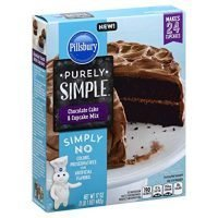 Pillsbury Purely Simple Chocolate Cake and Cupcake Mix, 17 Ounce