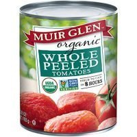 Muir Glen Canned Tomatoes, Organic Whole Peeled Tomatoes, No Sugar Added, 28 Ounce Can