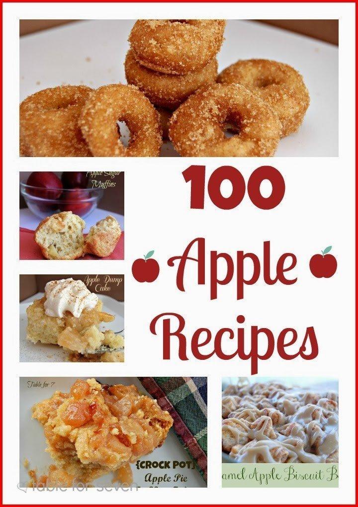 100 Apple Recipes #apple #recipes #tableforsevenblog #reciperoundup