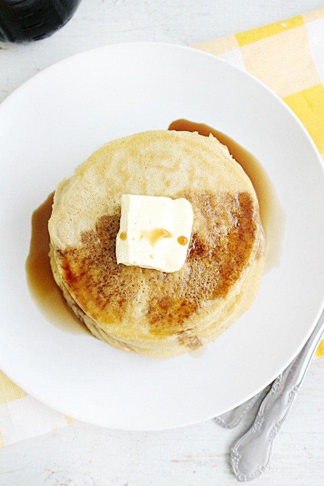 Blender Pancakes - Table for Seven #blender #pancakes #breakfast