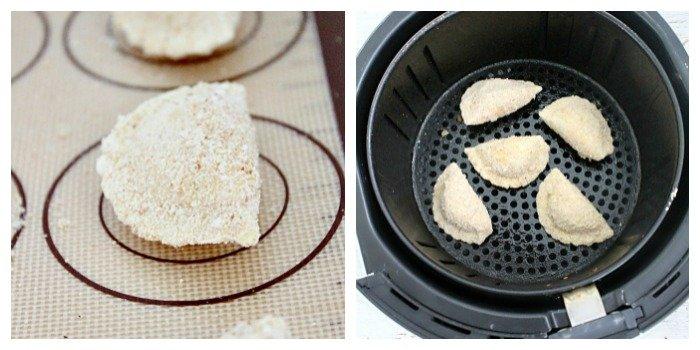 Breaded Pierogies : Two Ways #airfryer #pierogi #tableforsevenblog #pierogies