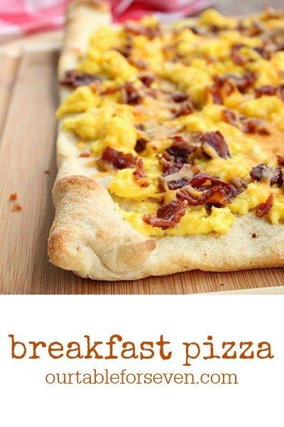 Breakfast Pizza @tableforseven #tableforsevenblog #breakfast #pizza #eggs #cheese #bacon
